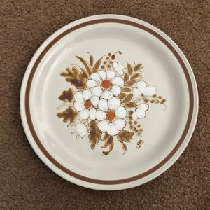 2 vintage Mountain wood collection dinner plates